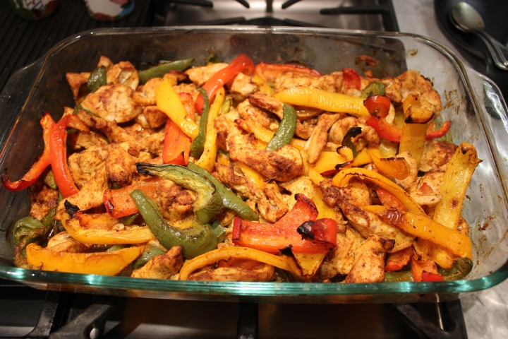 "Oven Fajitas….a ""One Dish Dinner"""