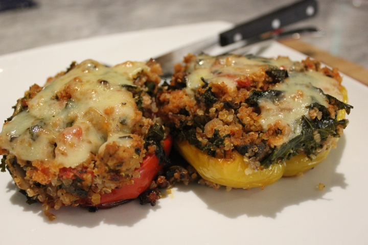 Stuffed Peppers with Quinoa and Kale