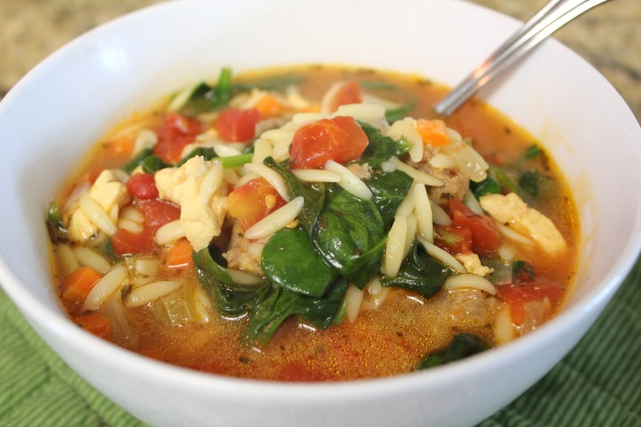 Spinach Tomato OrzoSoup
