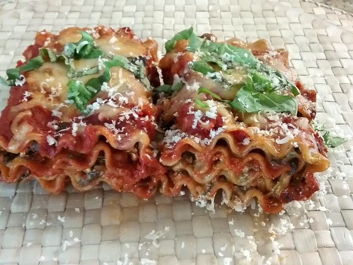 "Skinny Lasagna Roll Ups ""Meatless Monday"""