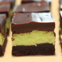 Mint Chocolate Shortbread Squares