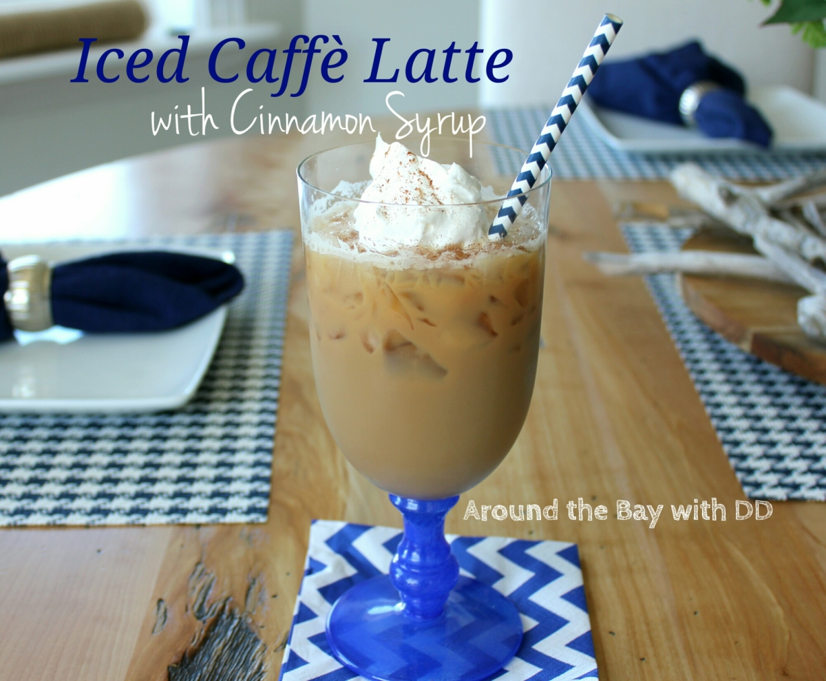 Iced Caffe Latte with Cinnamon Syrup