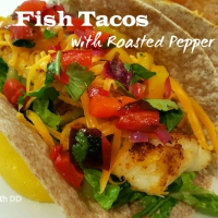 Fish Tacos with Roasted Pepper Salsa