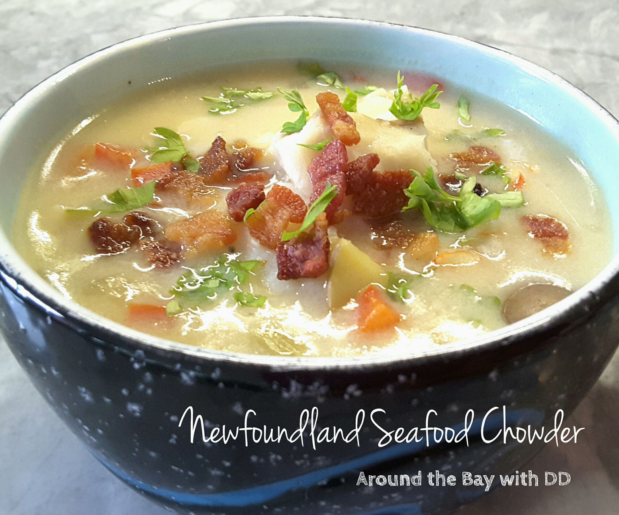 Newfoundland seafood chowder around the bay with dd for Fish soup cod