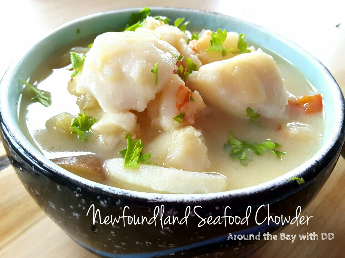 Newfoundland seafood chowder around the bay with dd for Fish soup recipe cod