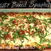 Pesto Baked Spaghetti