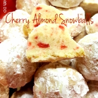 Cherry Almond Snowballs