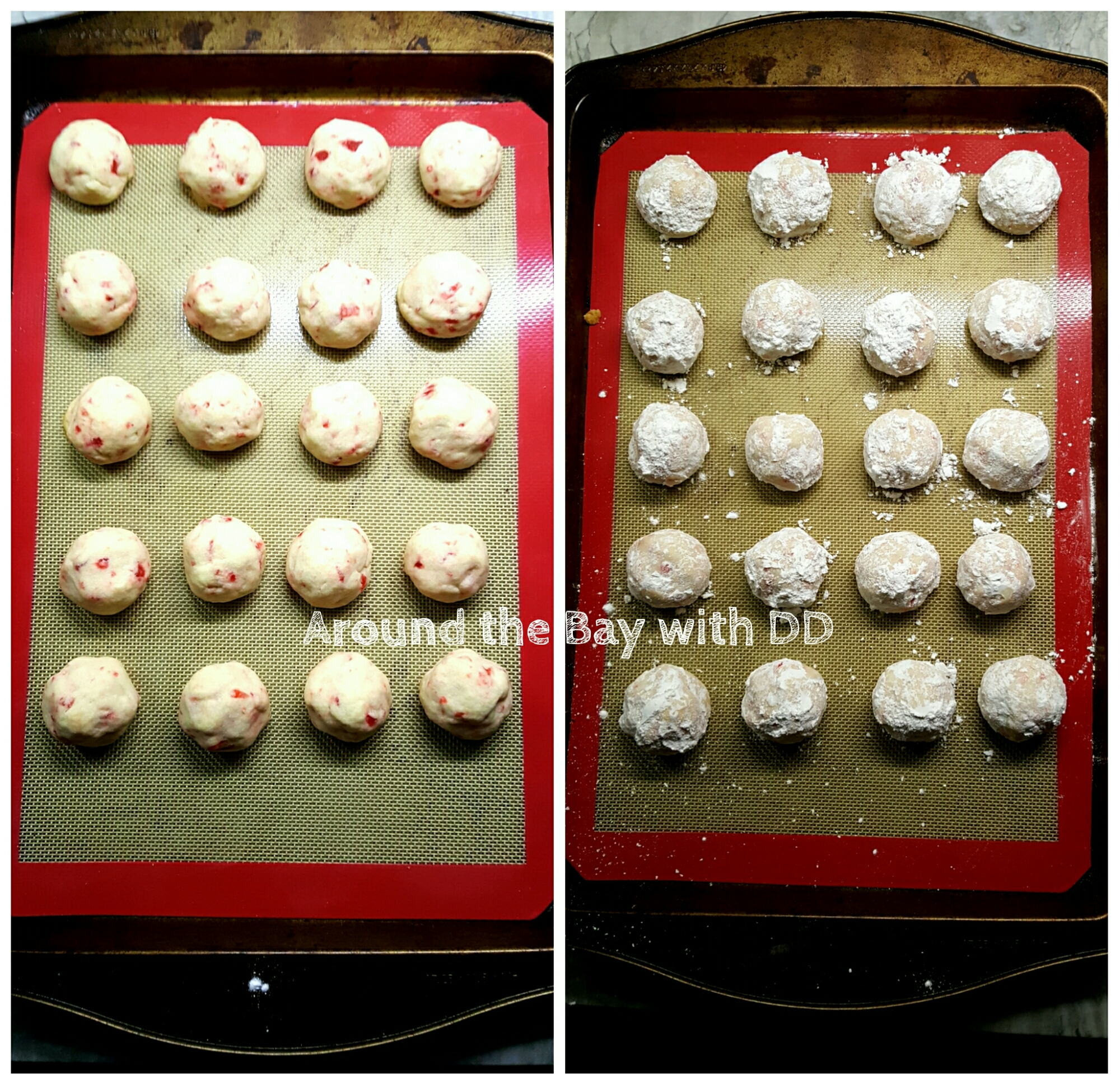 Cherry Almond Snowballs