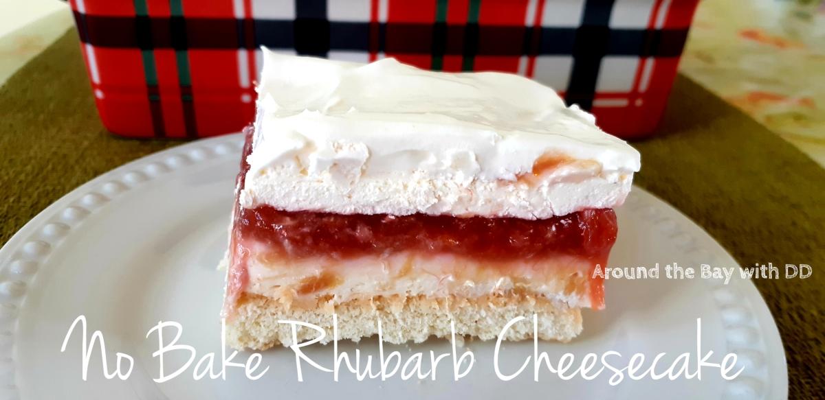 No Bake Rhubarb Cheesecake