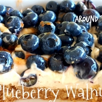 Fresh Blueberry Walnut Bars